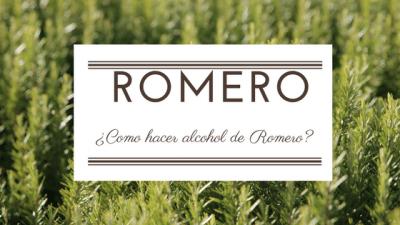 Como hacer alcohol de Romero