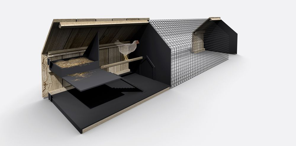 Internal View of Chicken Coup by Studio Segers