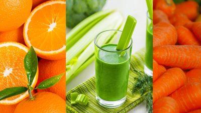 Smootie de Naranja, apio y zanahoria