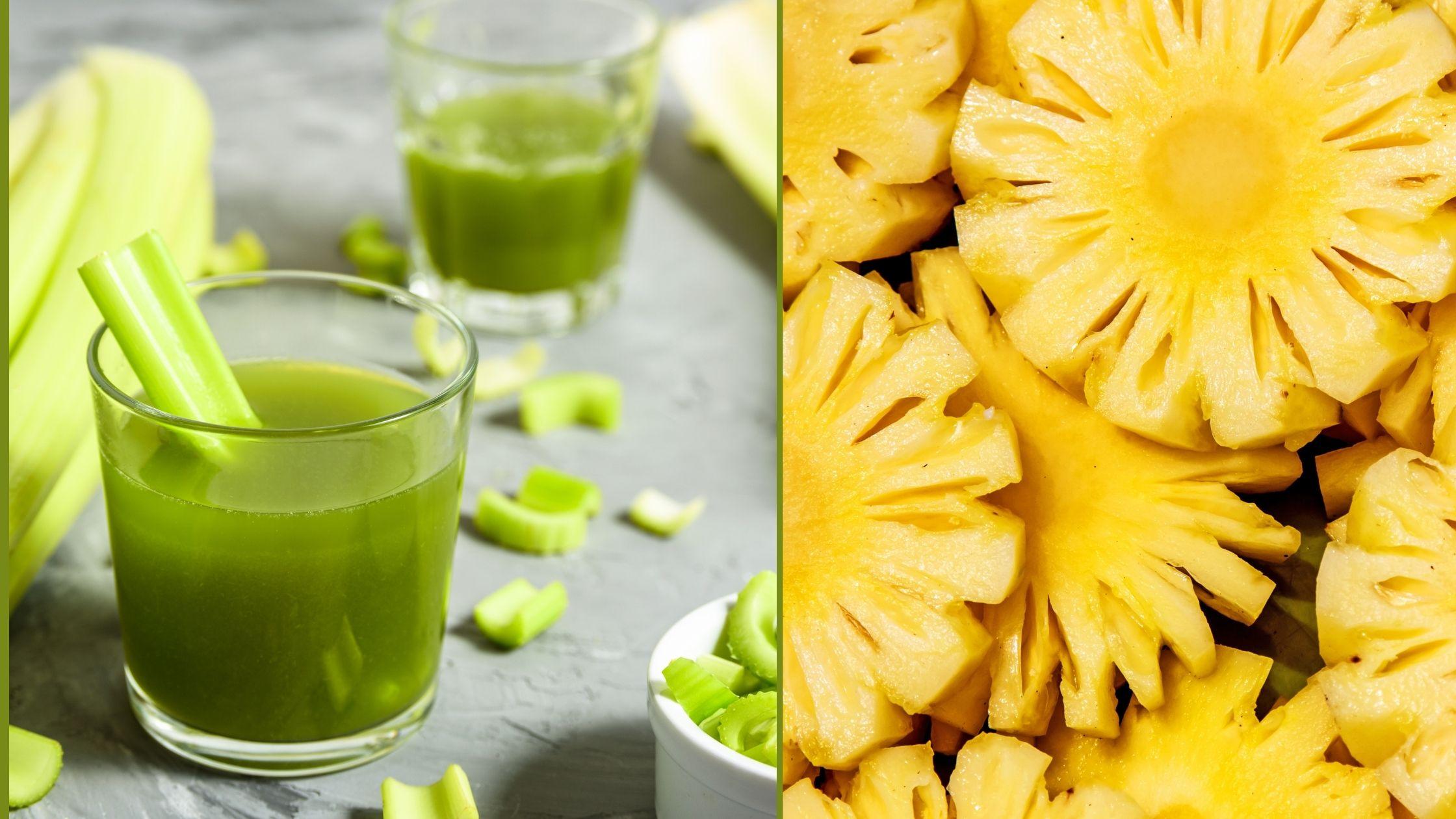 Batido verde adelgazante sencillo apio y piña