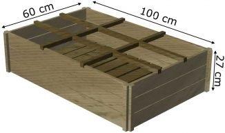 huerto de madera 60x100x27
