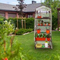 Worth Garden 5 Tier Brown Pequeño invernadero Cubierta de PVC transparente 7